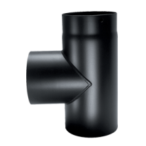"Flue pipe 5"" x T Piece with soot drain"