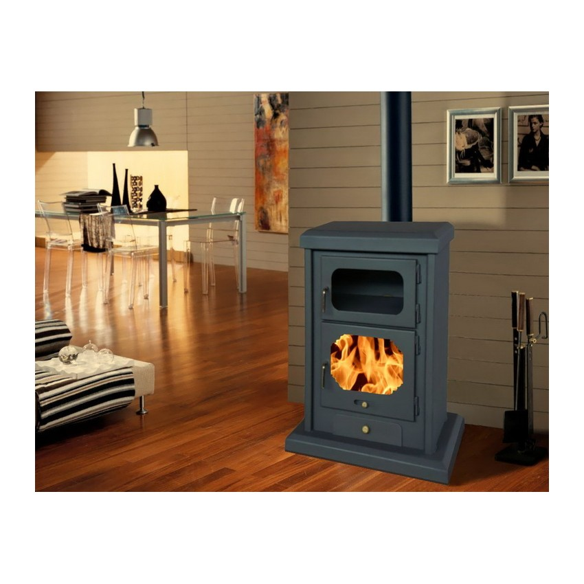 Panadero sabina wood stove for Poele bois double combustion